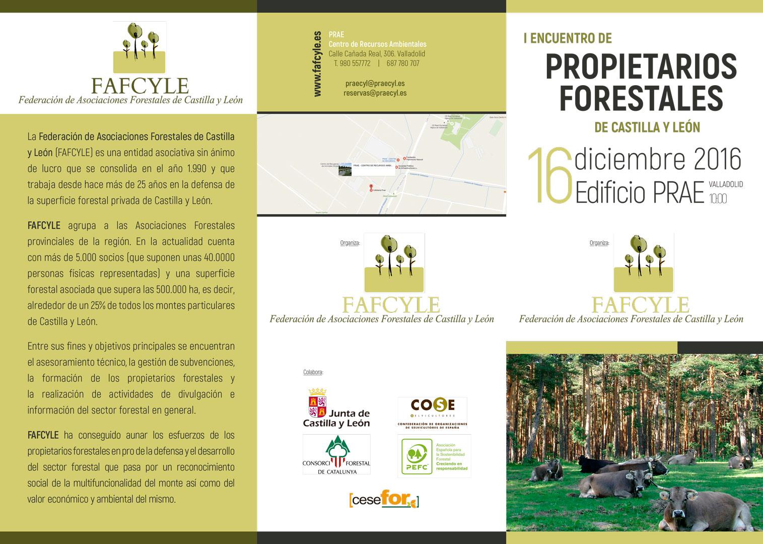 I ENCUENTRO DE PROPIETARIOS FORESTALES DE CYL - Folleto a